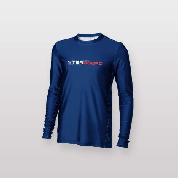 חולצת גלישה ארוכה כחולה לגבר סטארבורד