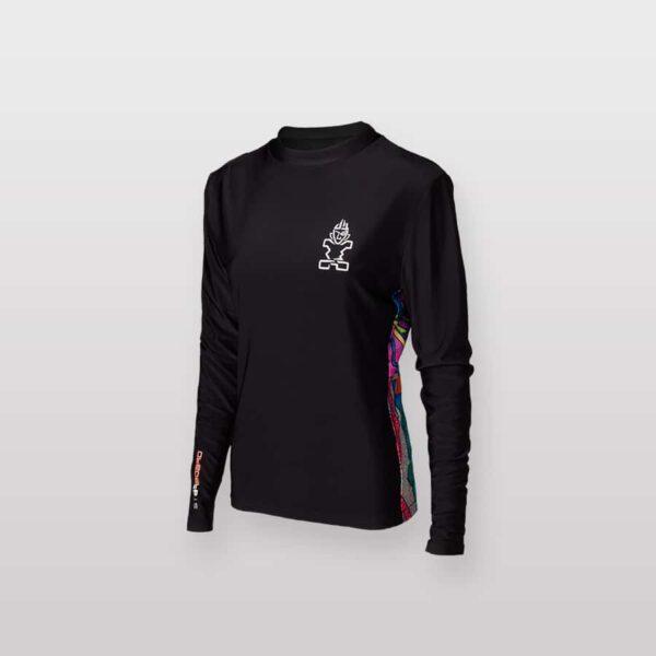 חולצת גלישה ארוכה שחורה סטארבורד