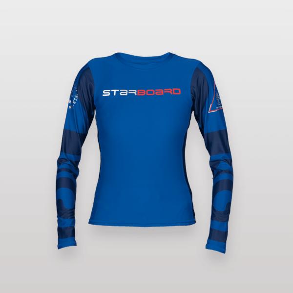 חולצה גלישה ארוכה לנשים סטארבורד כחול